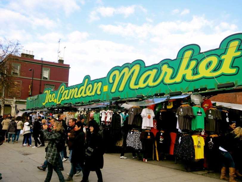 Camden Market in London. We thought this was the only area to shop around, but turns out the market extends down the road!