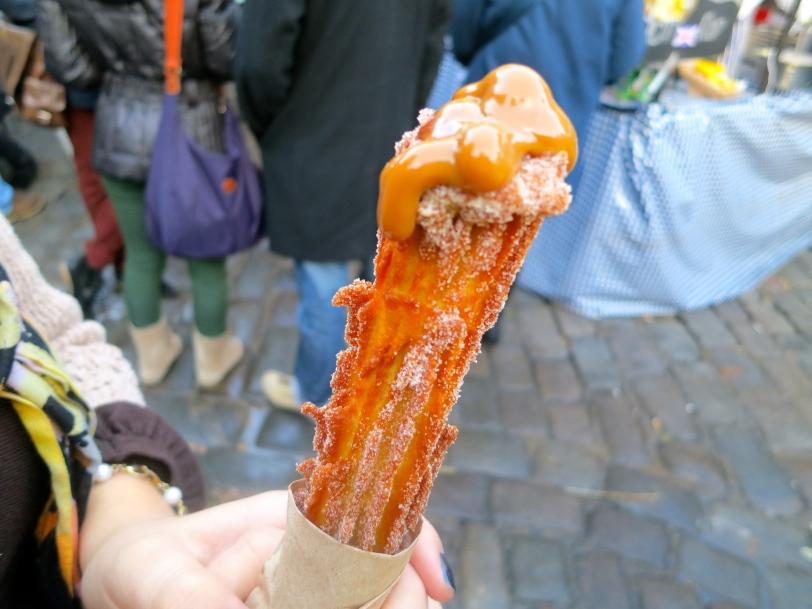 Dulce de Leche-filled churro