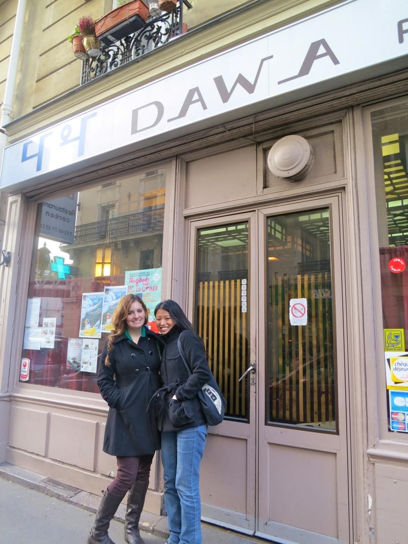 Ashley + Edna outside of Dawa