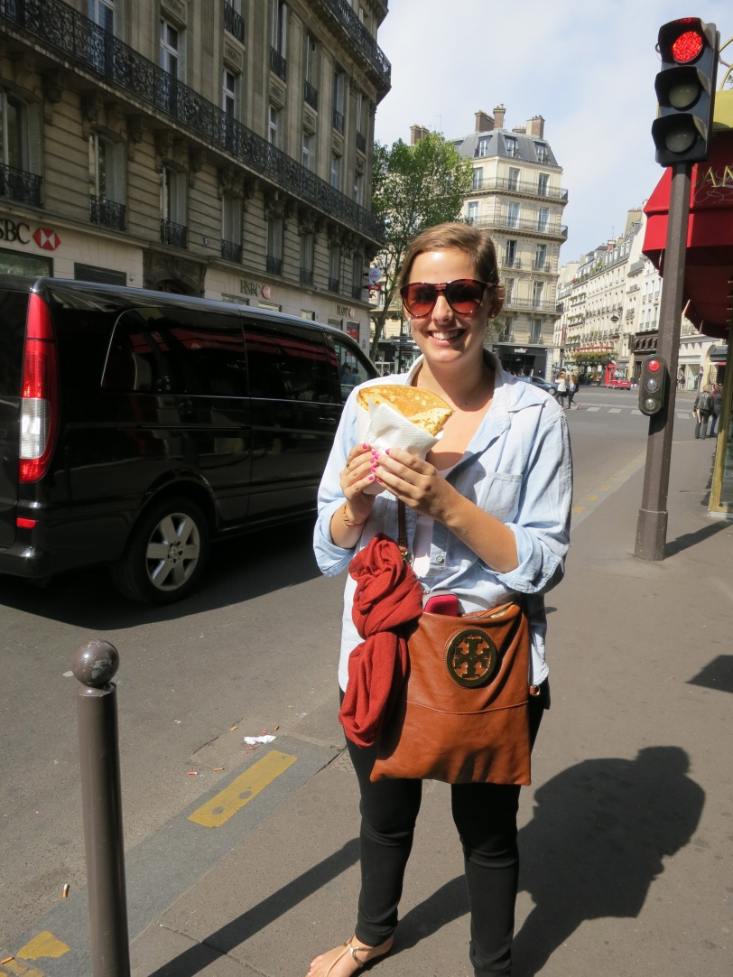 Modeling my first crêpe back in Paris