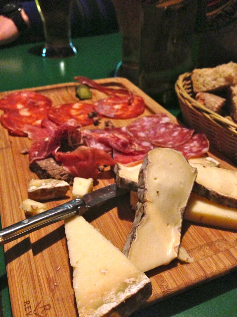 Cheese + charcuterie plate